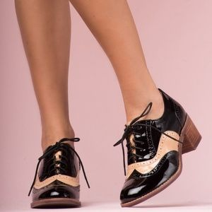 JEFFREY CAMPBELL WILLIAMS OXFORDS BLACK & BROWN